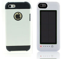 White Armor case Iphone 5 5s + White Solar power bank charging bank 2600mAh V3.0