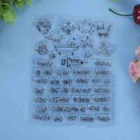 Klar Silikon Stempel Clear Stamp Albums Scrapbooking DIY Basteln Briefmarken Neu