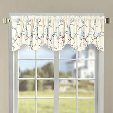 """Serenta Classic Decorated Embroidery Valance, 60""""x19"""""""