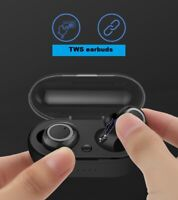 Stylish stereo sound headset wireless twins earbuds earphones Bluetooth 5.0 w1