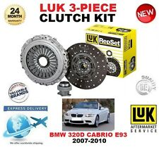 FOR BMW 320 D E93 CONVERTIBLE 2007-2010 177 BHP CLUTCH KIT LUK 3 PIECE