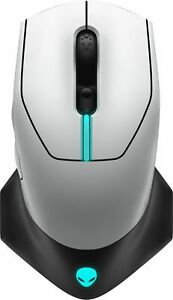Alienware - AW610M Wired/Wireless Optical Gaming Mouse - RGB Lighting - Luna...