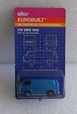 MOC 80s SIKU EUROBUILT DIE-CAST 1/55 VW VOLKSWAGEN BLUE MINI VAN ~OLD STOCK 1331