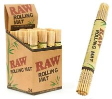 RAW Bamboo Rolling Mat - 2 ROLL - Portable Natural Gummed Hand Tray Paper Fast