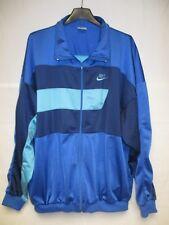 Veste NIKE sport vintage bleu années 90 giacca jacket jacke XL