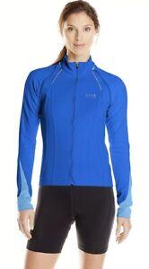 NWT Gore Bike Wear 2 in 1 Convertible Jacket Blue Gore WindStopper Large *Medium