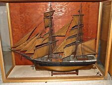 Antique Ship Model - Two Masted, Very Detailed
