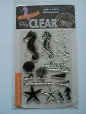 HERO ARTS COLOR LAYERING SEAHORSE POLY CLEAR CLEAR STAMPS SET CL956 BNIP