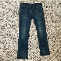 Express Mens Jeans 30 x 30 Blue Denim Slim Fit Rocco Straight Leg