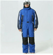 Mens ski suit,  Blue, One Piece, Height 180-185cm (71-73 ins), Waist 90 (35)