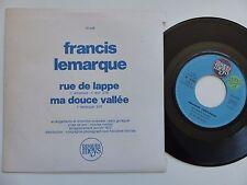 FRANCIS LEMARQUE Rue de la Lappe 10049 PROMO MEYS ALAIN GORAGUER Discotheque RTL