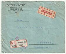 Reko Brief, Budapest , Express, Mehrfach Frankatur, nach Belgrad 1926 gel.