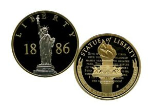 STATUE OF LIBERTY 1886 PLATINUM COMMEMORATIVE COIN PROOF VALUE $99