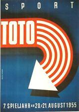 Original vintage poster SPORT TOTO AUSTRIA LOTTERY 1955