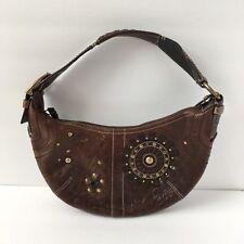 Coach Mia #10063 Starburst Studded Brown Leather Hobo Bag Shoulder Handbag