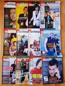 12x Musikexpress 2004 Zeitschrift Magazin Sammlung Hefte Jahrgang Pop Charts