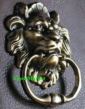 1 x door knocker knock lions head man cave handle knob hanger home decor screws
