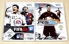 2 WII SPIELE SET - FIFA 08 & PRO EVOLUTION SOCCER PES 2008 - FUSSBALL FOOTBALL