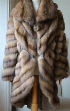 DENNIS BASSO SABLE FUR COAT UK 12