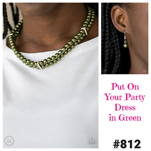 Pearl Choker Necklace with Matching Earrings Paparazzi PUT ON YOUR PARTY DRESS