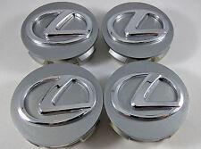 Set of 4 LEXUS Center Wheel Center Hub Rim Cap 62MM Dark Grey Chrome IS GS ES RX