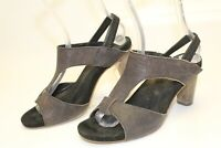 Twenty Two Italy Made 39.5 9.5 Artisan Leather Sandals Sling Backs Heels Shoes