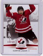 CURTIS LAZAR 14/15 Upper Deck Team Canada Juniors /199 Exclusives #90 Rookie SP