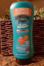 Hawaiian Tropic Tropic Island Sport Lotion, SPF 30 Light Tropical Scent 10.8oz