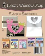 Heart Window Flap Card Kit 5 Cards & Envelopes Pop Up Patterns Idea HOTP New
