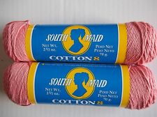 South Maid Cotton 8 crochet thread/yarn, 100% cotton, Coral, lot of 2