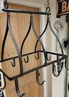 Vintage French Metal Ceiling Butchers Rack