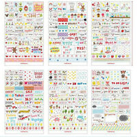 New 6 Sheets Paper Stickers for Diary Scrapbook Book Wall Decor Skin  Fw