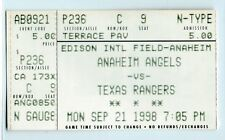 Rick Helling win #20, Juan Gonzalez home run ticket; Rangers at Angels 9/22/98