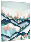 Sunrise Geometry Mountain Forest Canvas Wall Modern Painting Home Office Decor