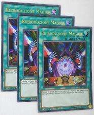 Set 3X  RIPRODUZIONE MAGICA  LCKC-IT045 Ultra Rara in Italiano YUGIOH