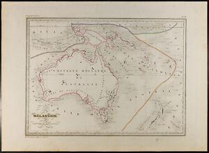 Australia: antique map Of 1846/Malenesie/New Holland