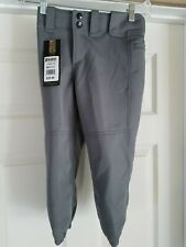 New listing NEW Girls Mizuno Baseball Softball Pants Gray Small - FREE SHIP MSRP $29.99