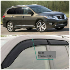 NE14914 Window Visors Guard Vent Wide Deflectors For Nissan Pathfinder 2014-2018