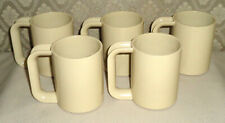 Lot of 5 Matching Ingrid Chicago Melamine Plastic Stackable Camping RV Mugs