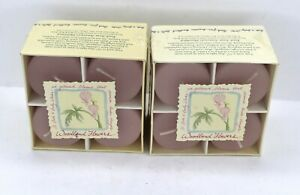 SET OF 2 BOXES BATH & BODY WORKS WOODLAND FLOWERS CHUBBIES VOTIVE CANDLES