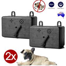 2x Outdoor Anti Barking Device Ultrasonic Pet Dog Bark Control Sonic Silencer AU