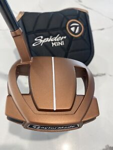"""BRAND NEW TaylorMade Spider Mini Copper Putter 35"""" With Head Cover."""