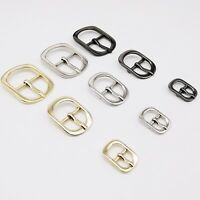 1/2/5x Metal Leather Bag Shoe Strap Shoulder Belt Adjust Roller Pin Buckle Snap