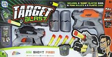 Due Giocatore Tin Can Target Blast SHOOTING come Nerf PISTOLA GAME-r01-0079