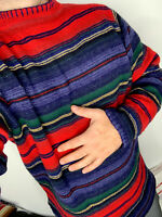 Ralph Lauren Mock Neck Sweater Polo Country Indian Serape RRL Aztec Stripe VTG