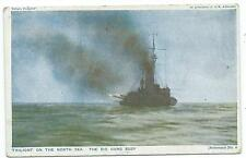 "SHIPPING - ""TWIGHLIGHT on the NORTH SEA, The BIG GUNS BUSY"" 1916 Postcard"