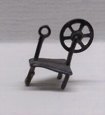 Vintage Miniature Dollhouse 1:24 Metal Spinning Wheel