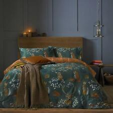 Furn. Forest Fauna Duvet Cover Set With Enchanted Print Emerald Double