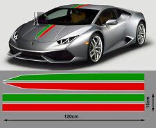 SET DE BANDES RACING ITALIE LAMBORGHINI FERRARI STYLE AUTOCOLLANT STICKER BD533