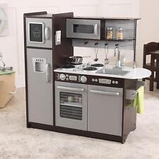 Kitchen Play Set Refrigerator Toddler Kids Stove Refrigerator Fun Food Sink Free